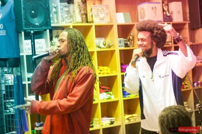 Bishop & MC Enigma at the Nicholas show