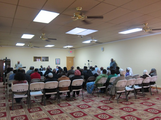 There was a solid showing at the Grant Avenue mosque, where at some points there were no seats available.