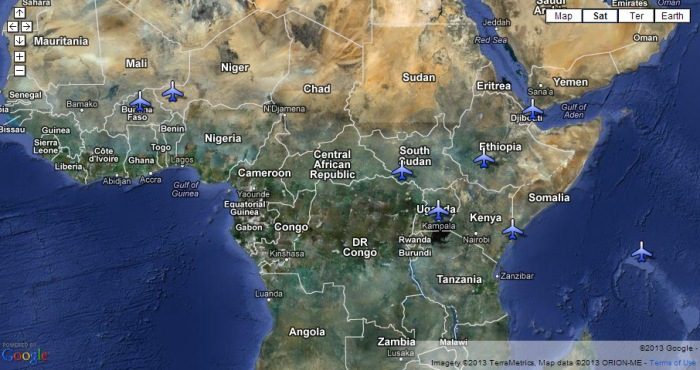 US Drone and Surveillance Bases in African as shown in this year's summit by filmmaker and journalist Elsa Rassbach