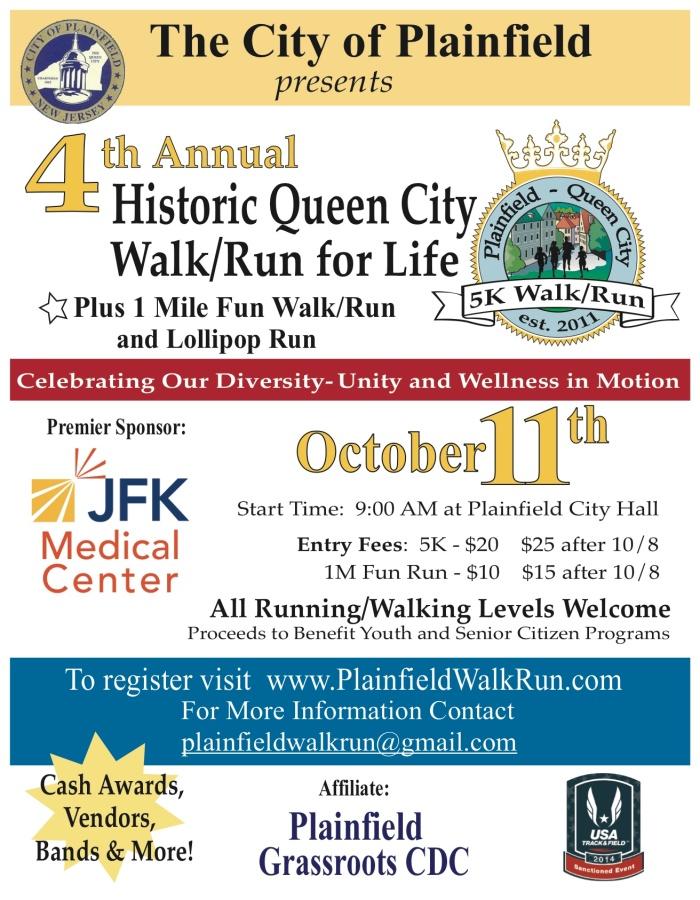 Plainfield 5K Walk-Run Revised 2014 English Flier 9-21-14