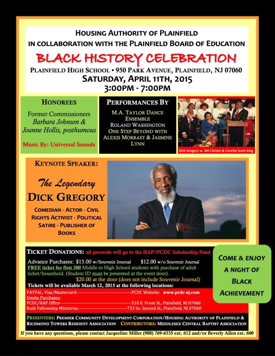 HAP-RTRA Black History Celebration final flier